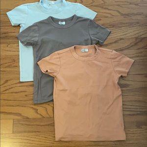 3 Uniqlo 100% Cotton T-Shirts
